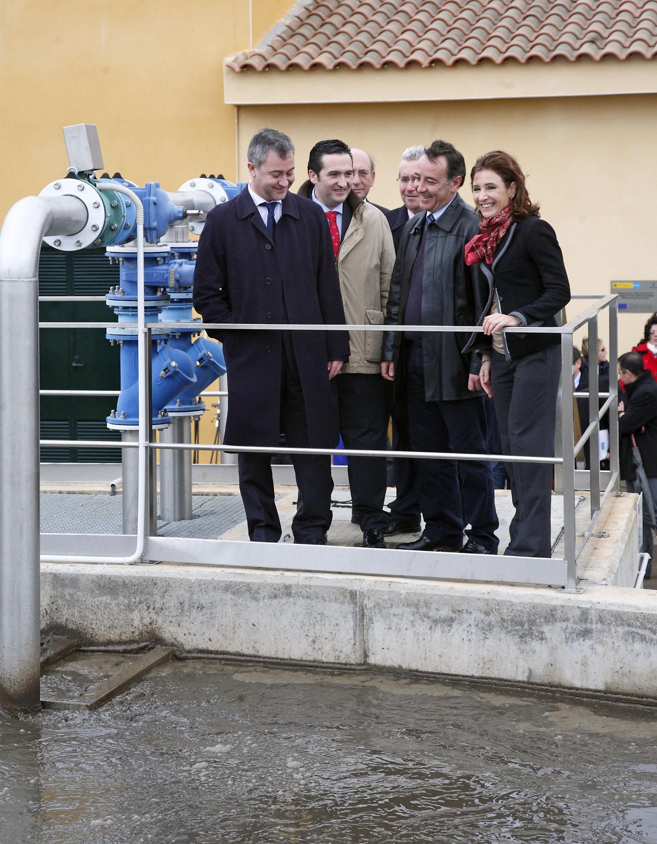 Marta garcía visita estación depuradora fuente del fresno marta
