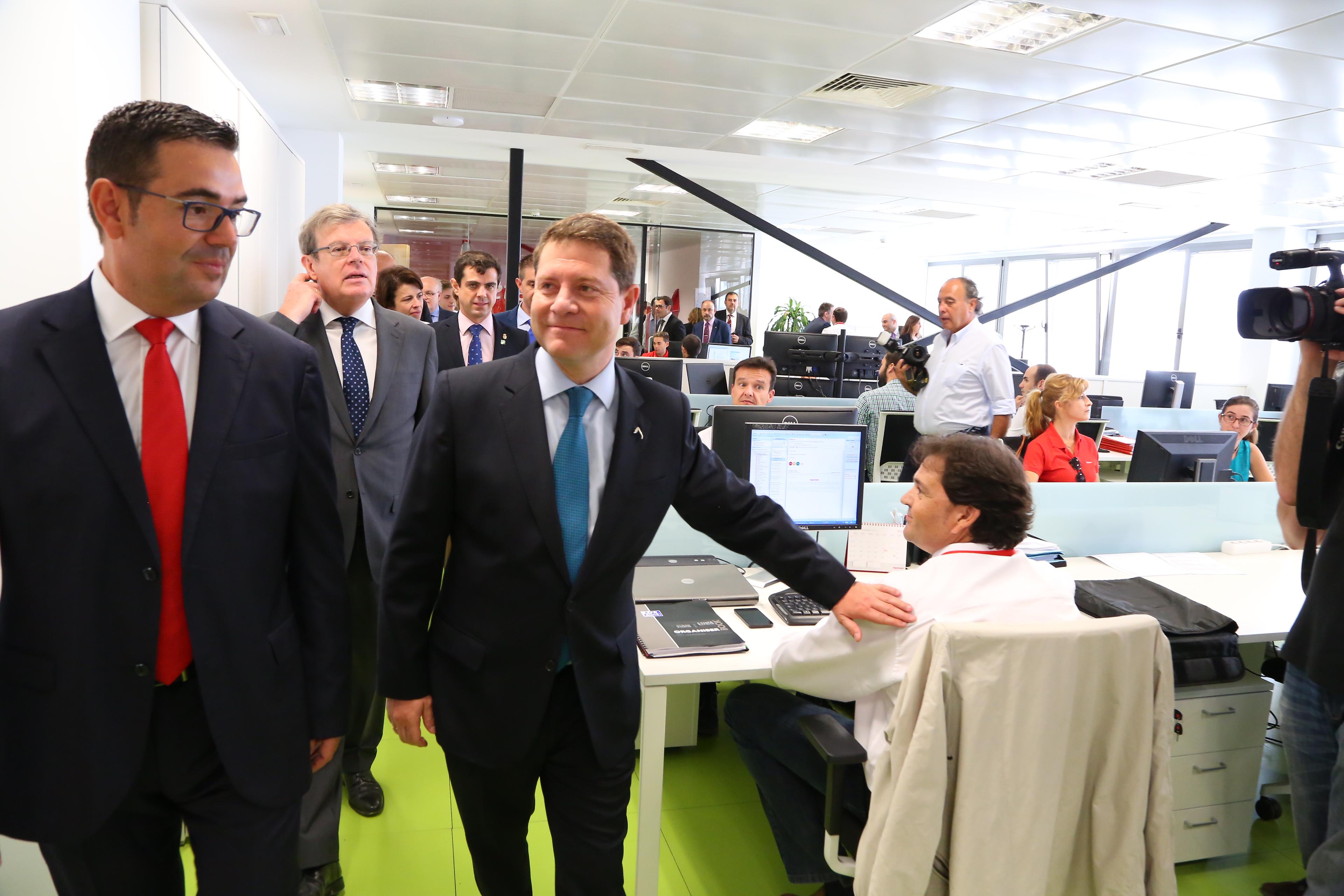 El presidente garc a page asiste inaugura la ampliaci n de for Oficina correos albacete
