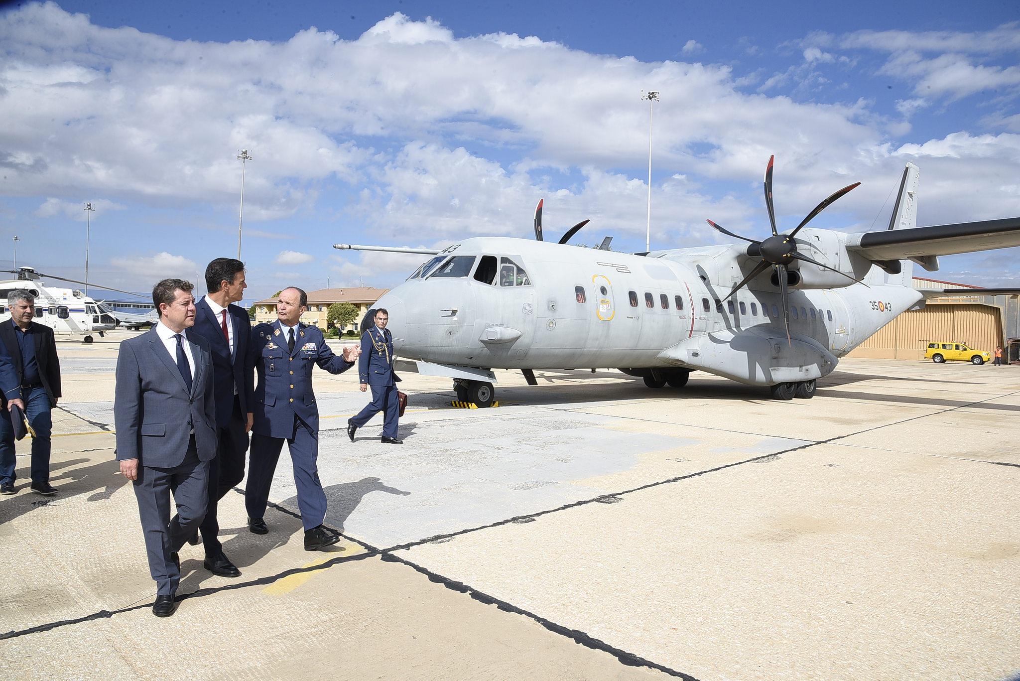 Visita A La Base Aerea De Los Llanos Gobierno De Castilla La Mancha