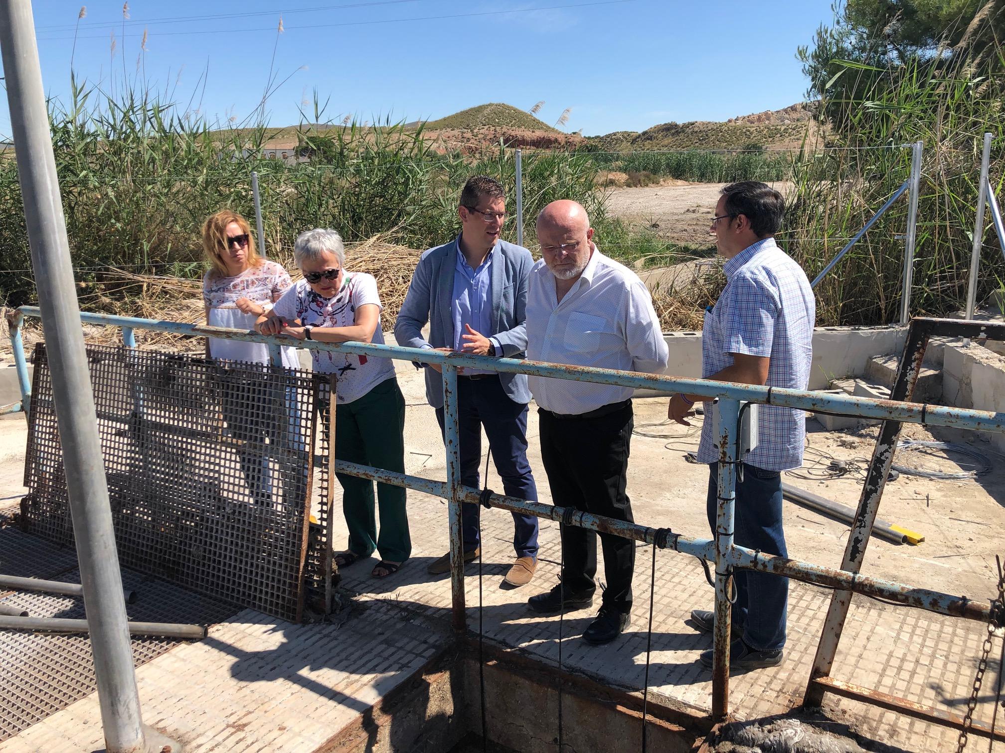 Visitas obras de emergencia del colector de la Depuradora de Tobarra