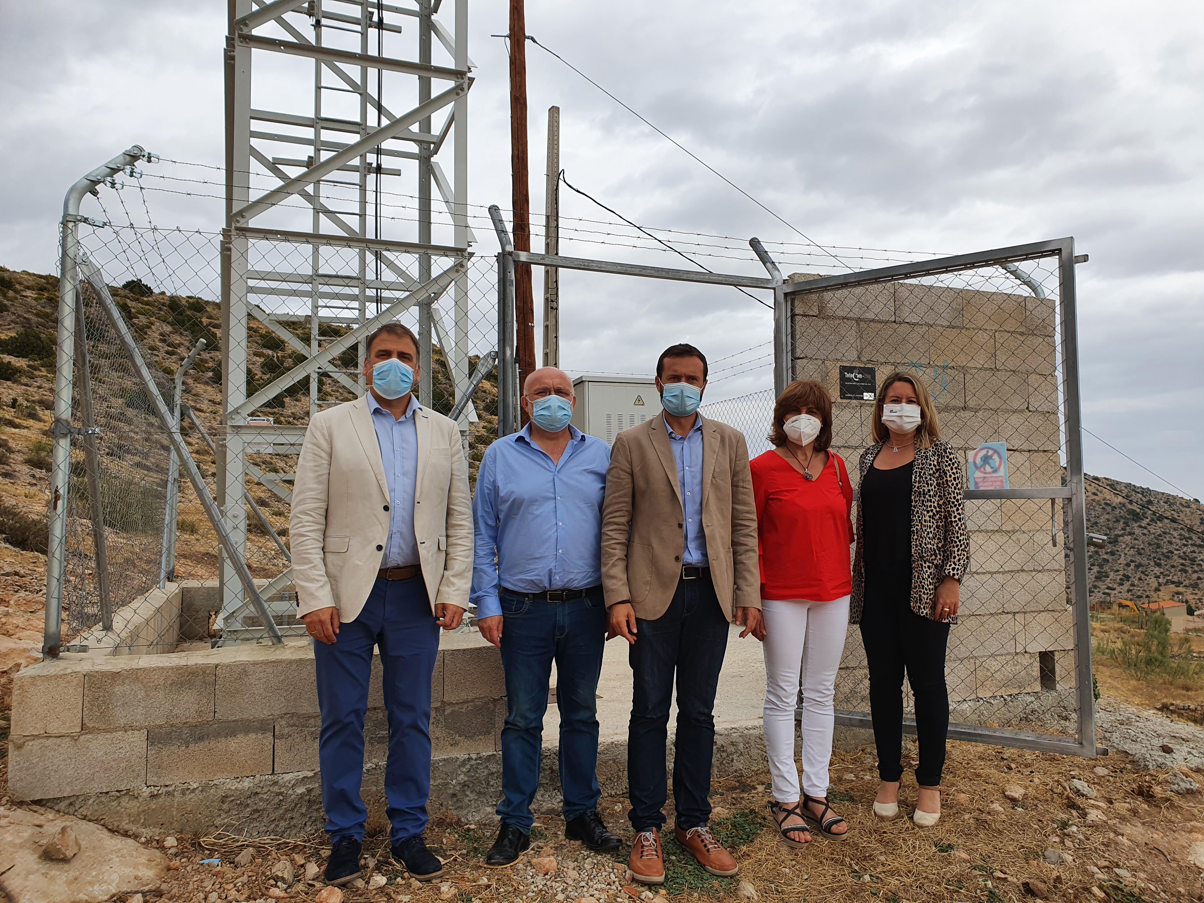 El Gobierno regional invierte 3,4 millones de euros en el despliegue de tecnología 4G en la Comarca de la Sierra del Segura llevando su cobertura al 97% de la población