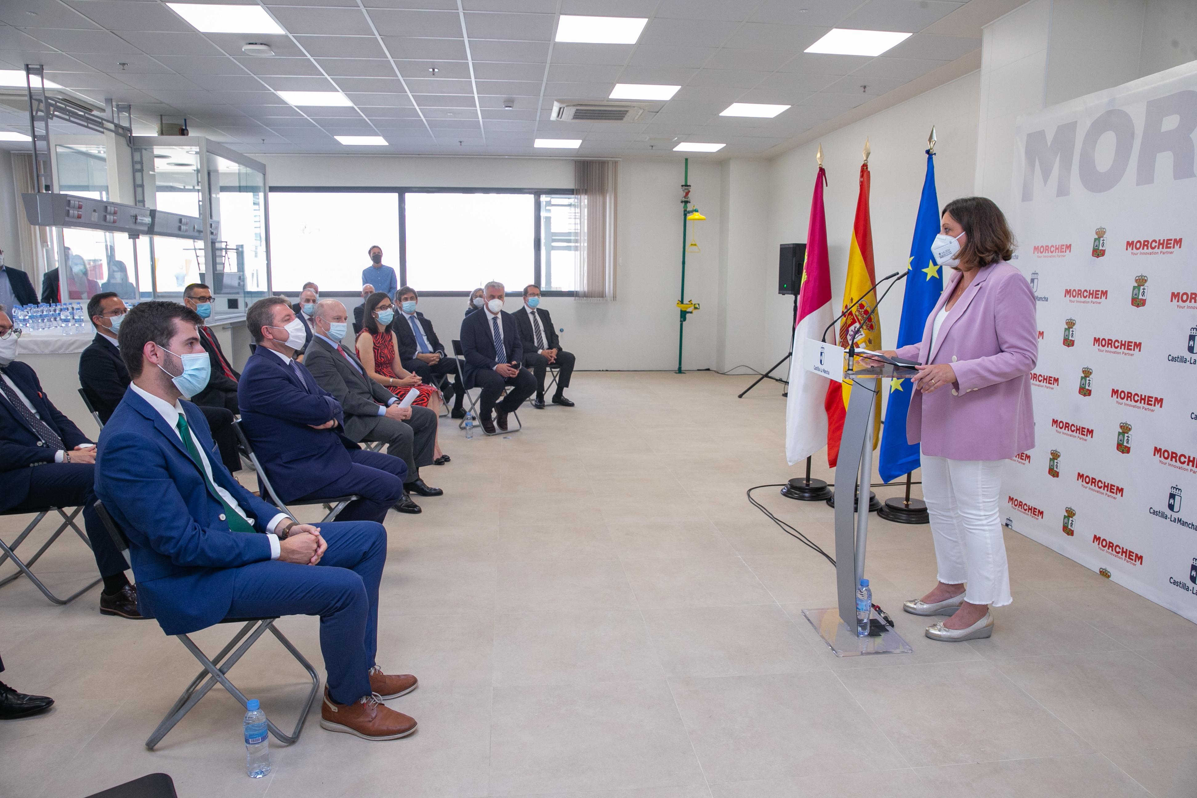 El presidente de Castilla-La Mancha, Emiliano García-Page, inaugura la planta de Morchem (Economía)