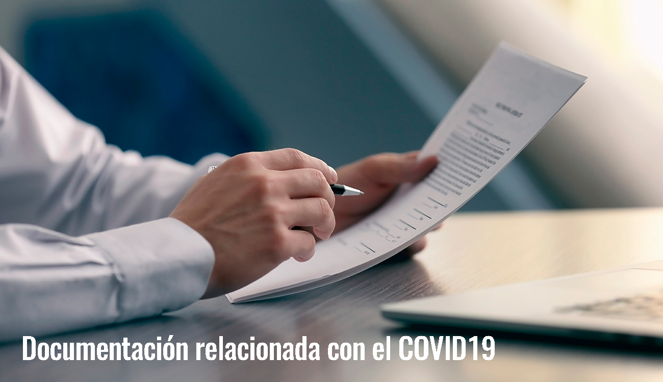 Documentación relacionada con el COVID19