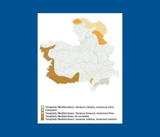 Clima de Castilla-La Mancha. Imagen satélite.