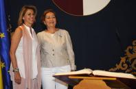 La presidenta de Castilla-La mancha felicita a la consejera de Agricultura