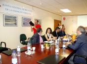 Marta García, reunión Junta de RegantesI