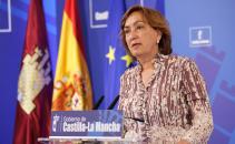 María Luisa Soriano, en la rueda de prensa para informar de los acuerdos adoptados en la reunión del Consejo de Gobierno.