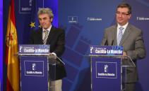 Esteban y Marín informan en rueda de prensa de la reunión del Consejo de Gobierno