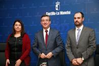 Rueda de prensa del Consejero de Educación, Cultura y Deportes, Marcial Marín I