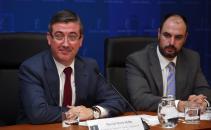 Rueda de prensa del Consejero de Educación, Cultura y Deportes, Marcial Marín II