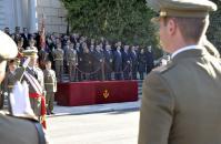 El consejero de Presidencia y Administraciones Públicas, Leandro Esteban, en los actos en honor a la patrona del Arma de Infanteria, en Toledo