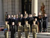 Leandro Esteban en los actos en honor a la patrona del Arma de Infanteria