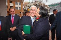 Barreda durante la visita al Centro de Salud Nº 8 de Albacete