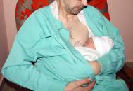 Recién nacido por cesárea en el Hospital de Valdepeñas (Ciudad Real)