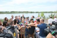 Visita de la consejera de Fomento y portavoz al río Tajo