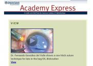 La Academia Americana de Oftalmología se hace eco de las técnicas pioneras disponibles en el Hospital Mancha Centro