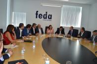 La consejera de Economía, Empresas y Empleo valora la voluntad de apoyo de la Confederación de Empresarios de Albacete al Plan Extraordinario por el Empleo