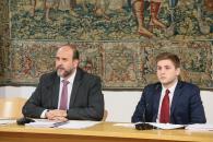 El vicepresidente, José Luis Martínez Guijarro, y el portavoz, Nacho Hernando, informan sobre los acuerdos del Consejo de Gobierno