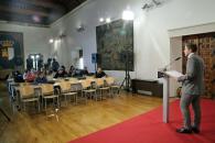 Nacho Hernando, portavoz del Gobierno de Castilla-La Mancha, en rueda de prensa