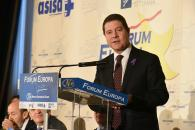 El presidente de Castilla-La Mancha en el desayuno informativo Fórum Europa