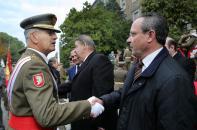 El consejero de Hacienda y Administraciones Públicas, Juan Alfonso Ruiz Molina, ha asistido hoy al acto castrense que se ha celebrado en la Academia de Infantería de Toledo