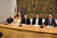 """El presidente de Castilla-La Mancha, Emiliano García-Page, presenta la campaña """"Ningún mayor solo en Navidad"""""""