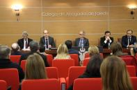 El director general de Empresas, Competitividad e Innovación, de la Consejería de Economía, Empresas y Empleo, Javier Rosell, durante su intervención en el acto de celebración del Día Internacional de la Mediación