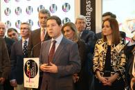 El presidente de Castilla-La Mancha, Emiliano García-Page, asiste en Fitur al acto organizado por el Ayuntamiento de Toledo para el traspaso del testigo de la Capitalidad Española de la Gastronomía
