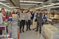 Visita a la empresa de fabricación de calzado infantil Pablosky en Fuensalida (Toledo)