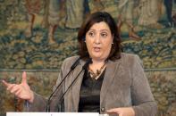 La consejera de Economía, Empresas y Empleo, Patricia Franco, informa en rueda de prensa
