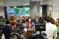 La consejera de Economía, Empresas y Empleo, Patricia Franco, visita las instalaciones del Centro de Operaciones de Energías Renovables de Iberdrola en Toledo
