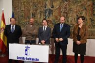 El presidente de Castilla-La Mancha, Emiliano García-Page, en rueda de prensa