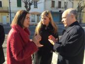 Elena de la Cruz asiste al acto de inauguración de semáforos reguladores