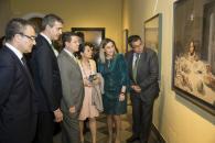 El presidente de Castilla-La Mancha, Emiliano García-Page, inaugura la exposición 'A la mesa. Bodegones en el Arte'
