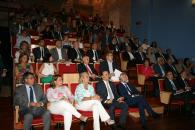 La consejera de Fomento, Agustina García, asiste  a la presentación de la conexión ferroviaria Castilla-La Mancha-Extremadura que corre a cargo del ministro de Fomento, Iñigo de la Serna.