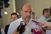 El vicepresidente regional, José Luis Martínez Guijarro hoy en Hellín