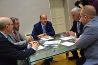 El vicepresidente de Castilla-La Mancha mantiene una reunión el la Delegación provincia de Guadalajara
