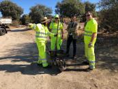 El Gobierno regional realiza trabajos de limpieza, desbroce y parcheado en las carreteras por las que transcurrirá la etapa de la Vuelta Ciclista a España que concluye en Toledo