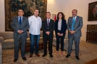 El presidente de Castilla-La Mancha, Emiliano García-Page, se reúne con el secretario regional de Comisiones Obreras, Paco de la Rosa