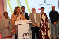 La consejera de Educación, Cultura y Deportes, Rosa Ana Rodríguez, visita la Feria de Albacete