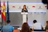 La consejera de Igualdad y portavoz del Gobierno regional, Blanca Fernández, informa de los acuerdos aprobados en el Consejo de Gobierno (I)