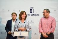 La consejera de Igualdad y portavoz del Gobierno regional, Blanca Fernández, y el consejero de Fomento, Nacho Hernando, comparecen para informar de otros acuerdos relacionados con el Consejo de Gobierno de Castilla-La Mancha