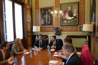 El consejero de Desarrollo Sostenible, José Luis Escudero, se reúne en el despacho de Presidencia de la Diputación de Ciudad Real, con su presidente José Manuel Caballero, con el objeto de abordar acciones conjuntas entre ambas instituciones