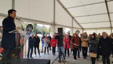 El consejero de Agricultura, Agua y Desarrollo Rural y presidente de la Fundación Dieta Mediterránea, Francisco Martínez Arroyo, asiste a la inauguración de la jornada 'Farming Day' incluida en DATAGRI.