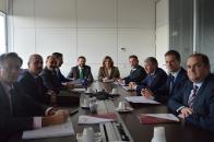 La consejera de Economía, Empresas y Empleo, Patricia Franco, y el consejero de Desarrollo Sostenible, José Luis Escudero, asisten al Consejo de Administración del Instituto de Sistemas Fotovoltaicos Concentrados (Isfoc).