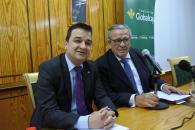 El consejero de Agricultura, Agua y Desarrollo Rural, Francisco Martínez Arroyo, imparte la conferencia 'Agua, Clima y Desarrollo Rural' del Ateneo Albacetense