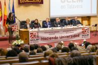 El presidente de Castilla-La Mancha, Emiliano García-Page, asiste a la conmemoración del 25 aniversario de la Universidad de Castilla-La Mancha en Talavera de la Reina.