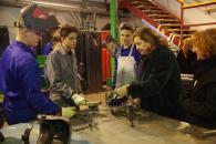 La consejera de Educación, Cultura y Deportes, Rosa Ana Rodríguez visita el IES 'Maestre de Calatrava' de Ciudad Real