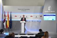 El consejero de Desarrollo Sostenible, José Luis Escudero, informa en rueda de prensa en el Palacio de Fuensalida sobre los acuerdos del Consejo de Gobierno en materia de transición energética.