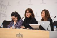 La consejera de Igualdad y portavoz del Gobierno regional, Blanca Fernández, asiste a la 'I Jornada de presentación y difusión de los trabajos de investigación de la convocatoria de ayudas a la investigación 2019 del Instituto de la Mujer' (I)
